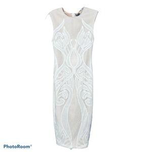 Asos Women's Dress Tan Lace Sleeveless 0 NWT
